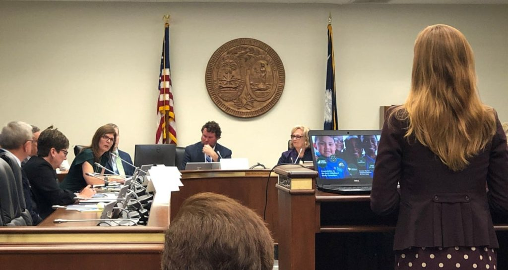 SC First Steps Executive Director shared the work of the SC Early Childhood Advisory Council and highlighted the re-invigorated collaboration and cooperation happening between state agencies in a presentation to the SC  Senate Education Committee -- Education Funding Reform Study Committee on Oct. 29, 2019.